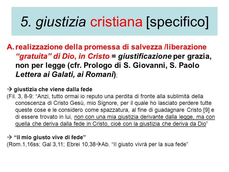 5. giustizia cristiana [specifico]
